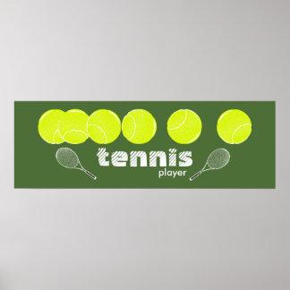 tennis decor poster