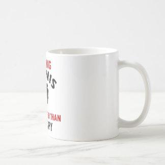 tennis design coffee mug