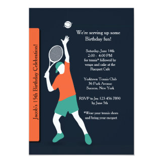 Tennis Dude Invitation