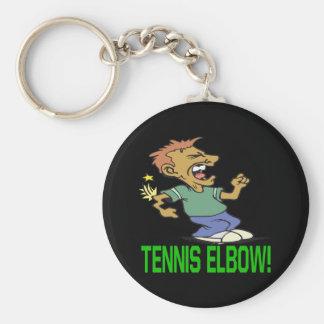 Tennis Elbow Basic Round Button Key Ring