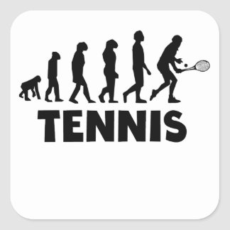 Tennis Evolution Square Sticker