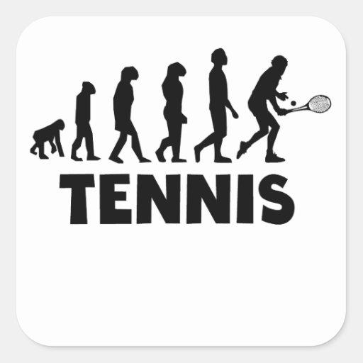 Tennis Evolution Square Stickers
