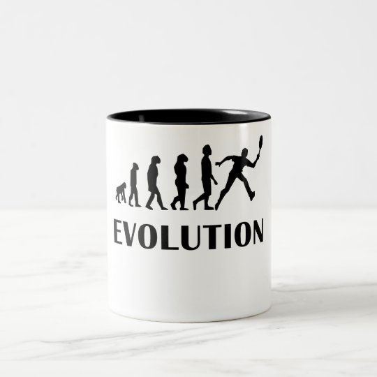 Tennis Evolution Two-Tone Coffee Mug