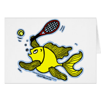 Tennis Fish, Fish Playing Tennis Card