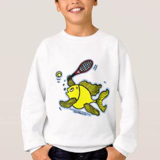 Tennis Fish, Fish Playing Tennis Sweatshirt