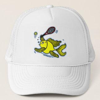 Tennis Fish, Fish Playing Tennis Trucker Hat