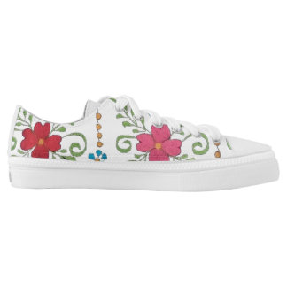 Tennis floreados low tops