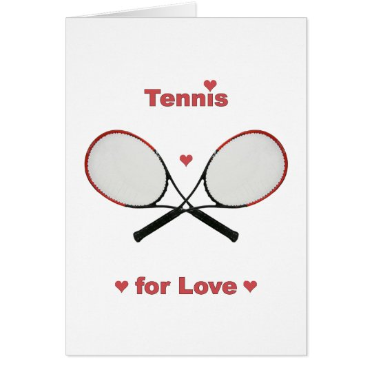 Tennis For Love Note Card