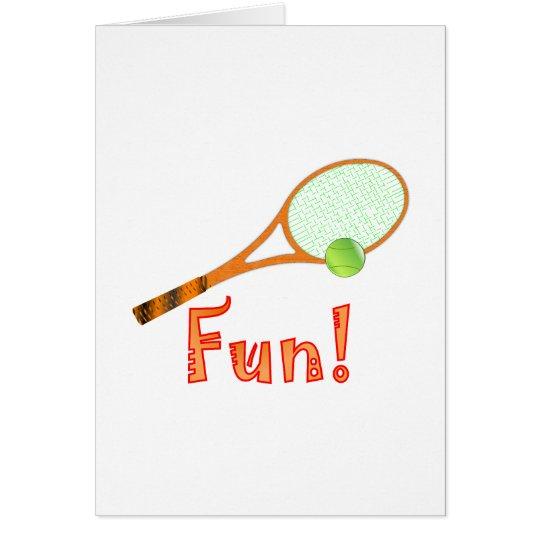 Tennis Fun Card