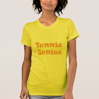 Tennis Genius Women's Yellow T Shirt