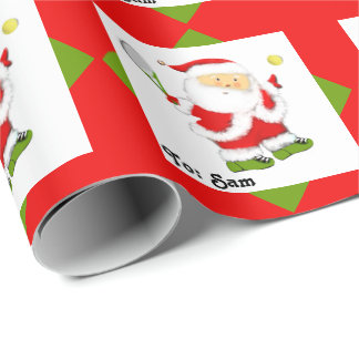 Tennis Gifts Wrapping Paper