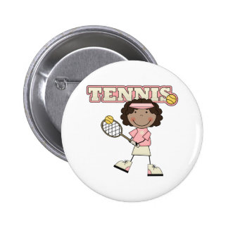 Tennis Girl,African American 6 Cm Round Badge
