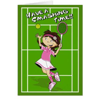 Tennis Girl Birthday Card