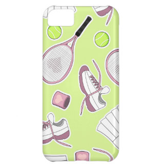 Tennis Girl Pattern Green Background iPhone 5C Case