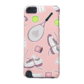 Tennis Girl Pattern Pink Background iPod Touch 5G Case