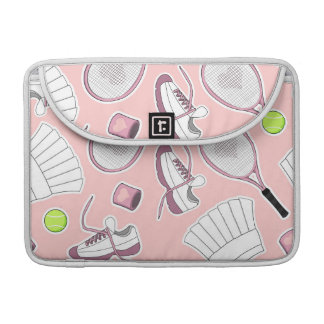 Tennis Girl Pattern Pink Background Sleeve For MacBook Pro