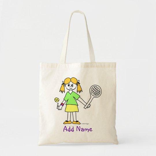 Tennis Girl Personalised Tote Bag