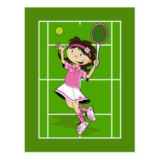 Tennis Girl Postcard