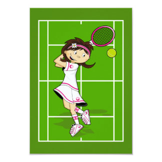 Tennis Girl RSVP Card
