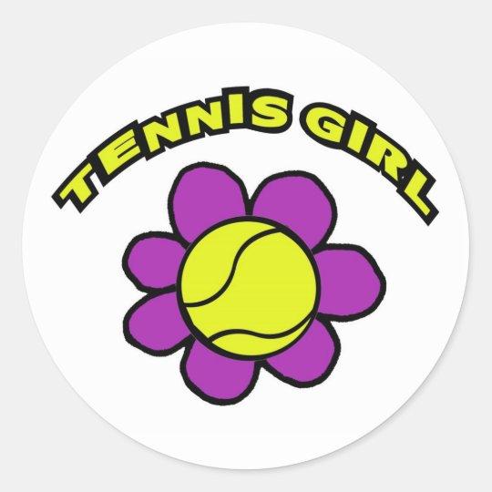 TENNIS GIRL STICKER