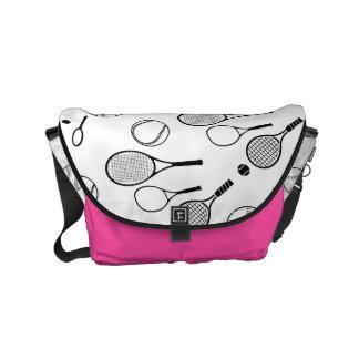Tennis girls pink purple commuter bag