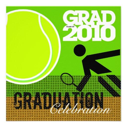 Tennis Graduation Party 2 Invitation