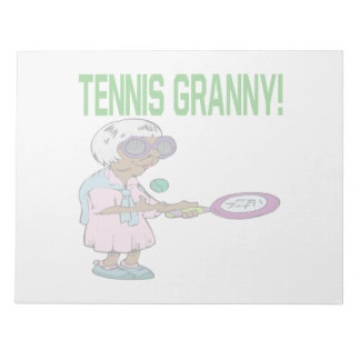 Tennis Granny Notepad