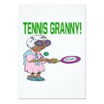 Tennis Granny Personalized Invitations