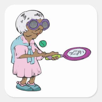 Tennis Granny Square Sticker