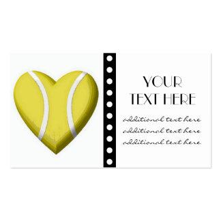 Tennis Heart Business Cards