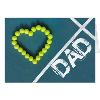 Tennis Heart Father's Day Card