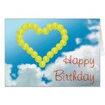 Tennis heart happy Birthday personalised