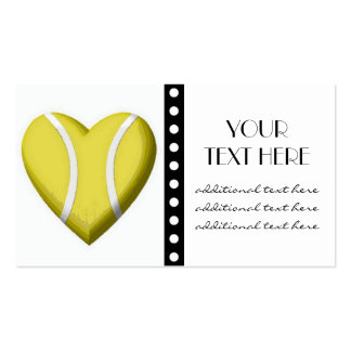 Tennis Heart Pack Of Standard Business Cards