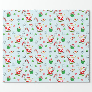 tennis holiday gift wrapping paper