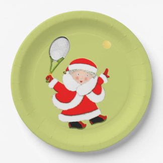 Tennis Holiday Party Paper Plate