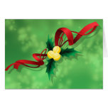 Tennis Holly Christmas Greeting Card
