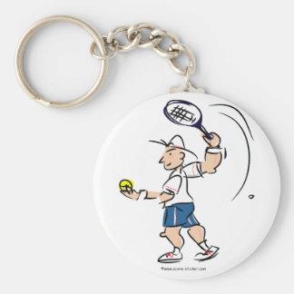 Tennis illustration on keychain