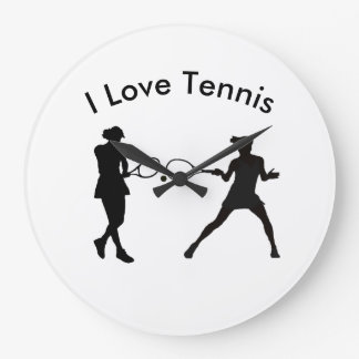 Tennis image for Round (Large) Wall Clock