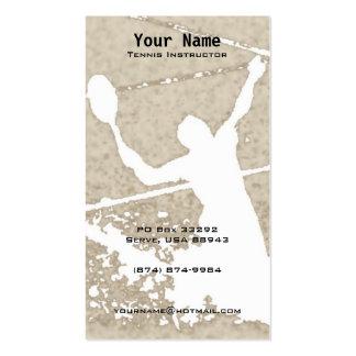 Tennis Instruction Business Card Template