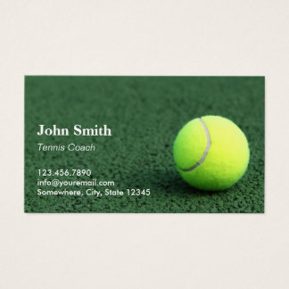 Tennis Instructor Professional Business Card
