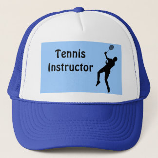 Tennis instructor trucker hat