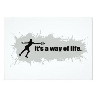 Tennis is a Way of Life (Female) 13 Cm X 18 Cm Invitation Card