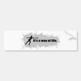 Tennis is a Way of Life (Female) Bumper Sticker