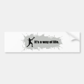 Tennis is a Way of Life (Male) Bumper Sticker