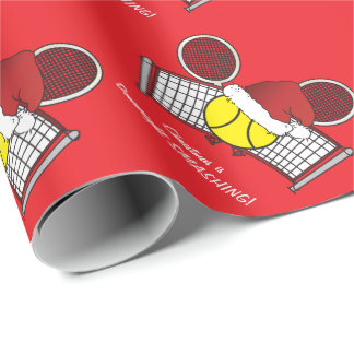 Tennis is Downright SMASHING Wrapping Paper