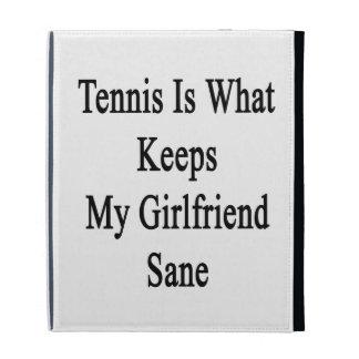 Tennis Is What Keeps My Girlfriend Sane iPad Case