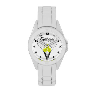 Tennis Just Add Name Wrist Watch