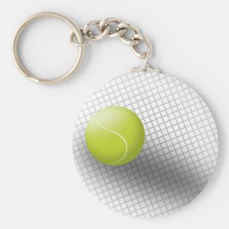 Tennis Keychain. Sport, tennis, tennis ball. Basic Round Button Key Ring