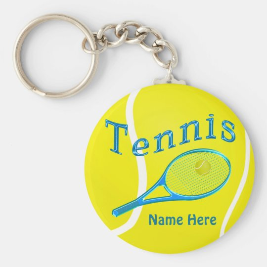 TENNIS KEYCHAINS Personalised Tennis Team Gifts