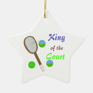 Tennis - King of the Court Christmas Ornament